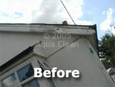 A fascia before the Aqua Clean treatment